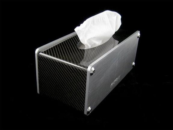 AutoART carbon fiber tissue box holder