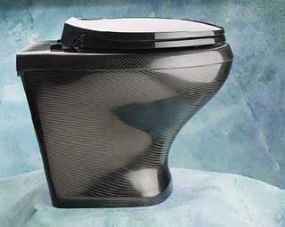 Carbon fiber toilet bowl