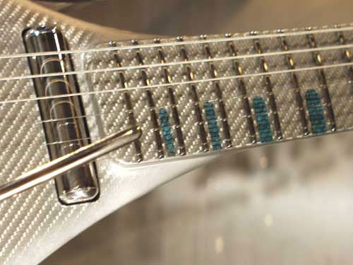 Gus G1 Ten silver carbon fiber guitar