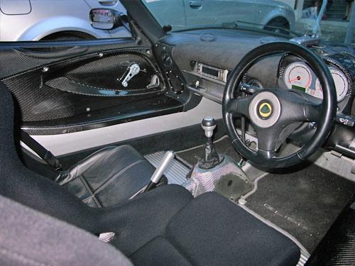 Jimmy Wong carbon fiber Lotus elise interior