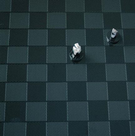 Carbon fiber F1 chess set