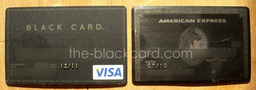 Visa black card vs. American Express Centurion card