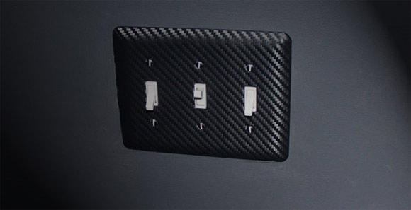 3M DI-NOC carbon fiber lightswitch panel