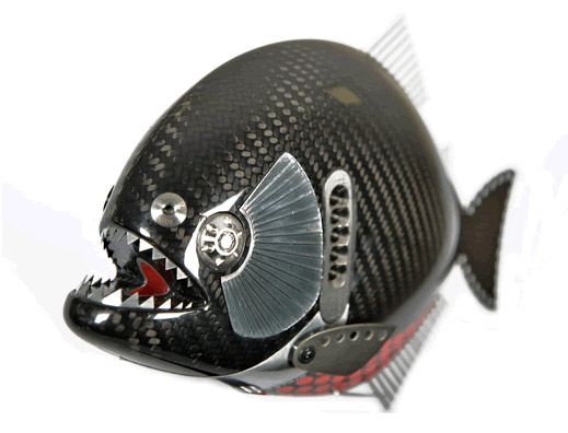 This carbon fiber sculpture seems a little fishy carbon for Fiber in fish