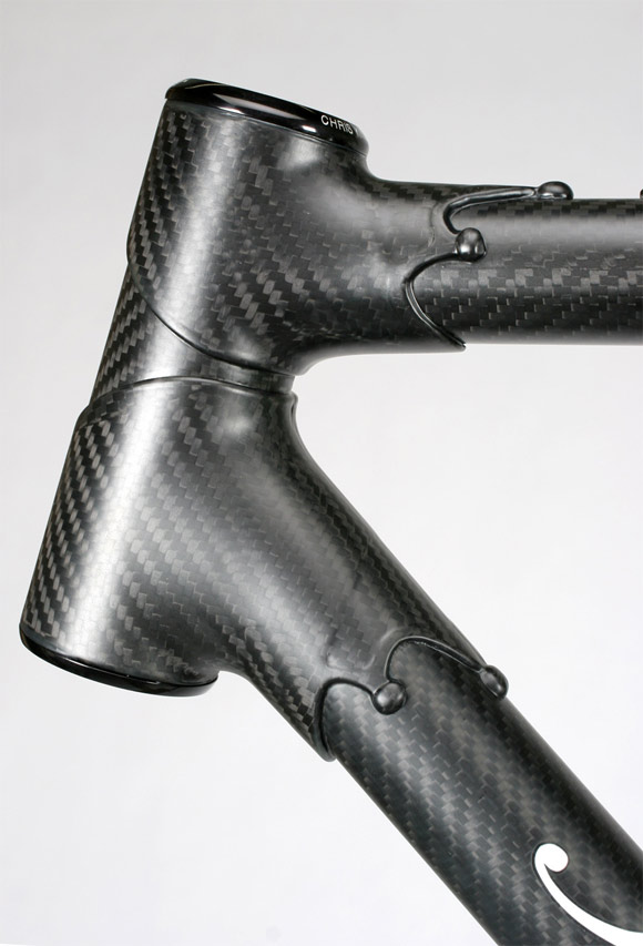 prototype carbon fiber bicycle frame from independant fabrication looks pretty carbon fiber gear