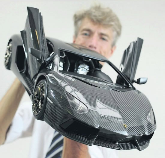 Carbon fiber Lamborghini Aventador model car