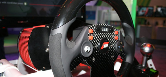 Fanatec Forza 4 CSR Elite steering wheel with carbon fiber