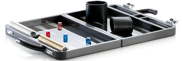 Carbon fiber backgammon game