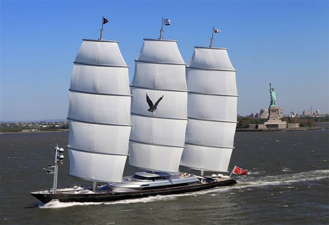 The largest private sailboat in the world the maltese for Largest private boat