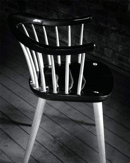 Go Carbon Darwin 2012 carbon fiber wood chair