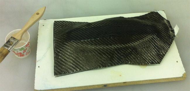 Wet laying carbon fiber